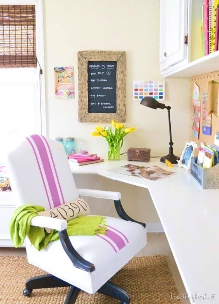DIY Painted Leather Office Chair Makeover