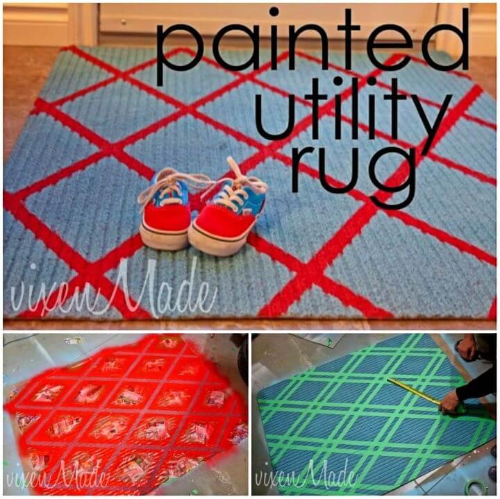 DIY Painted Utility Rug