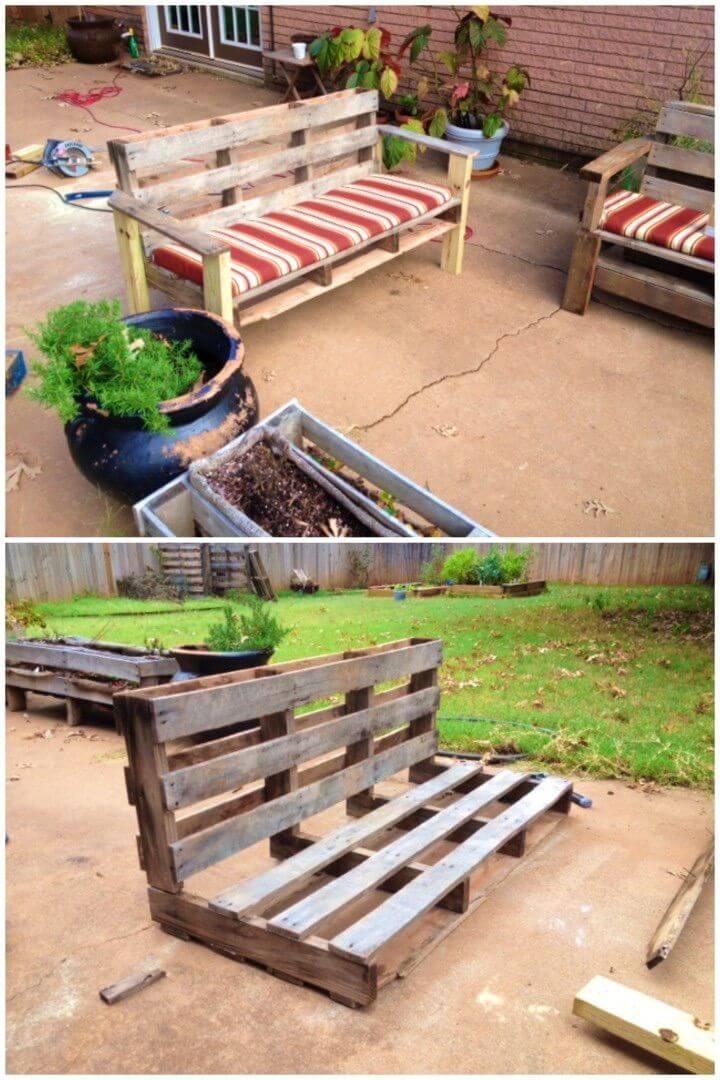 DIY Pallet Backyard Bench In Easy Steps