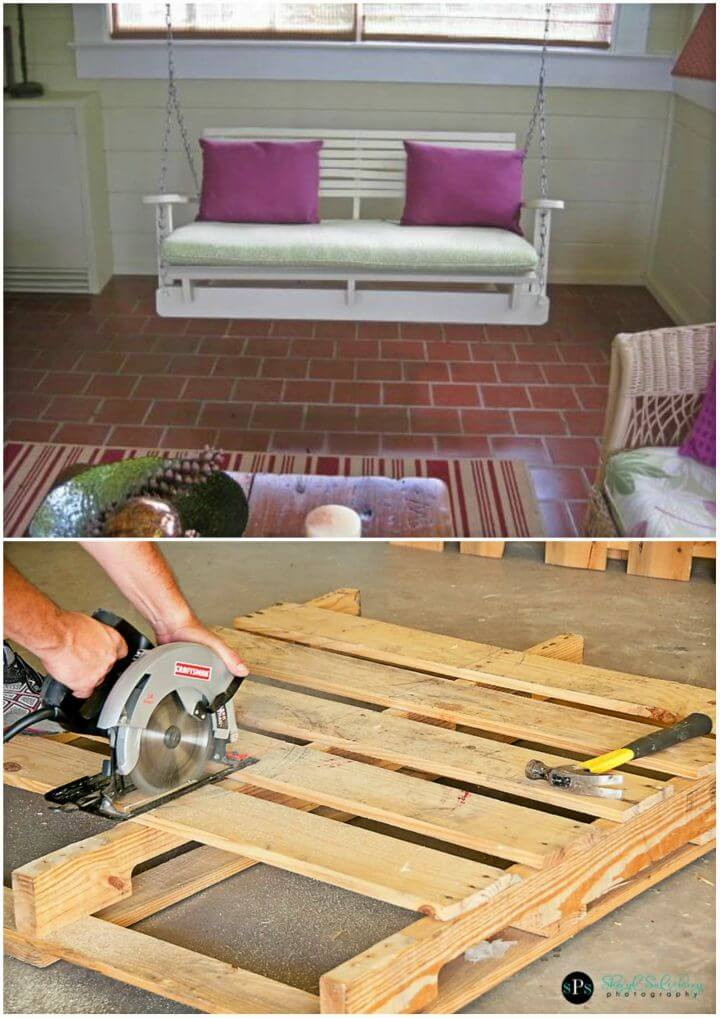 DIY Pallet Swing Chair for Your Garden