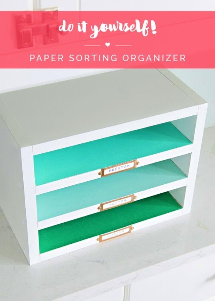 DIY Paper Sorting Organizer