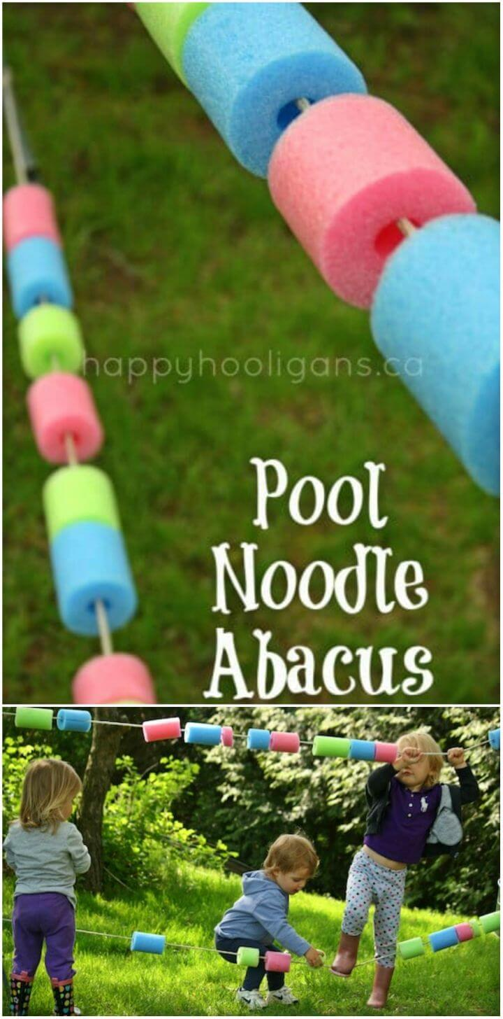DIY Pool Noodle Abacus for Your Backyard Play Space