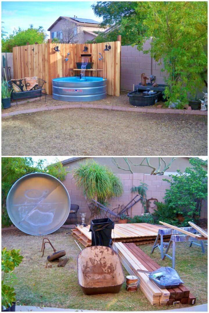 DIY Pool in Backyard
