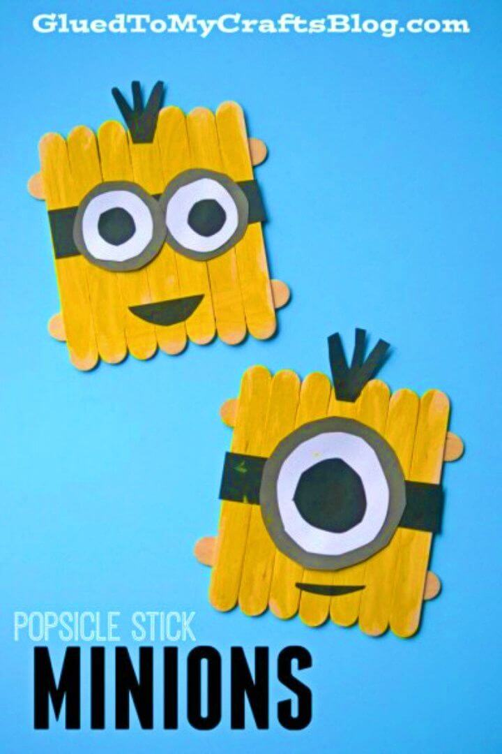 DIY Popsicle Stick Minions Kid Craft