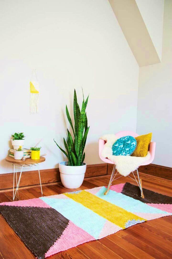 DIY Positive Vibes Rug