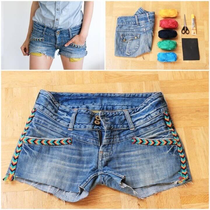 DIY Refashion Your Indian Summer Shorts