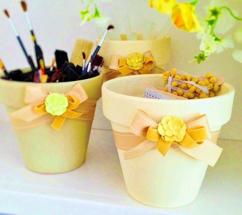 DIY Reusing Old Garden Pots