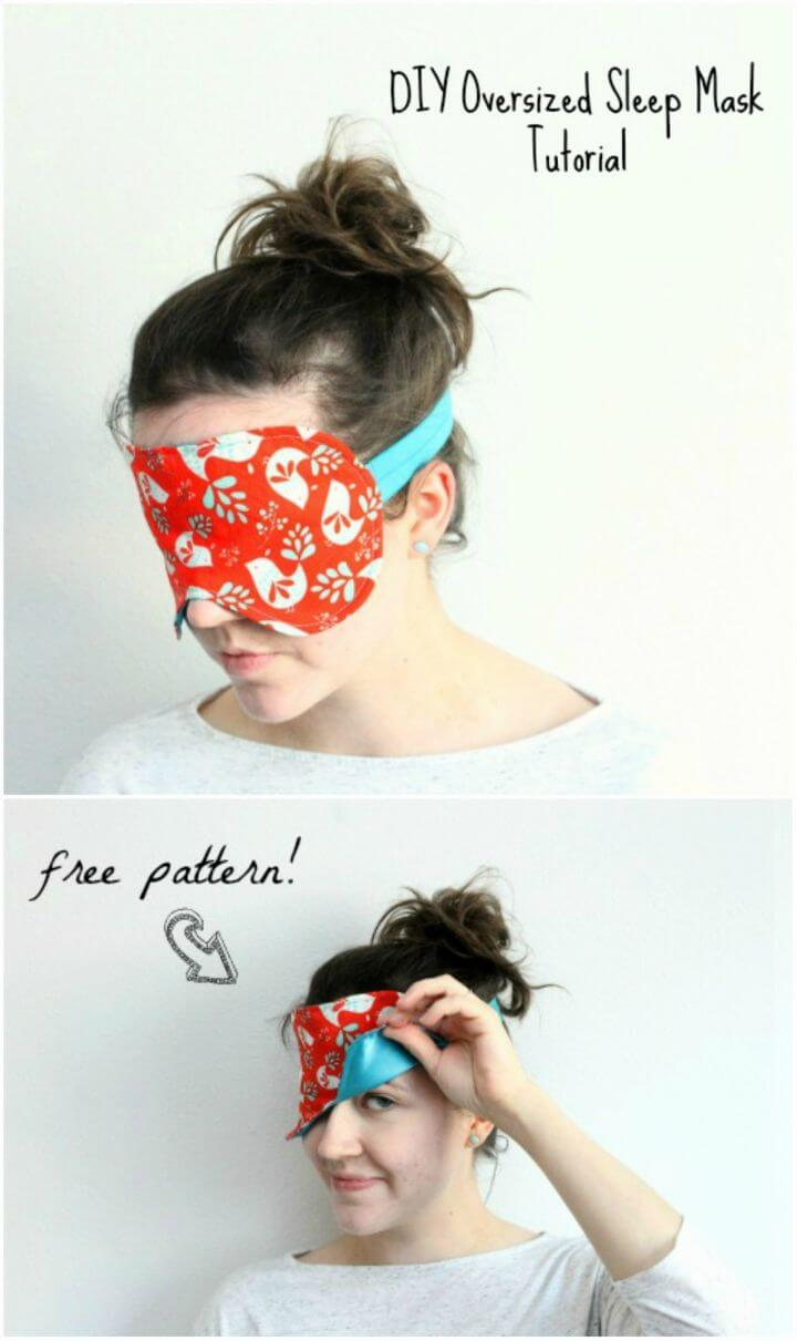 DIY Sew an Oversized Sleep Mask