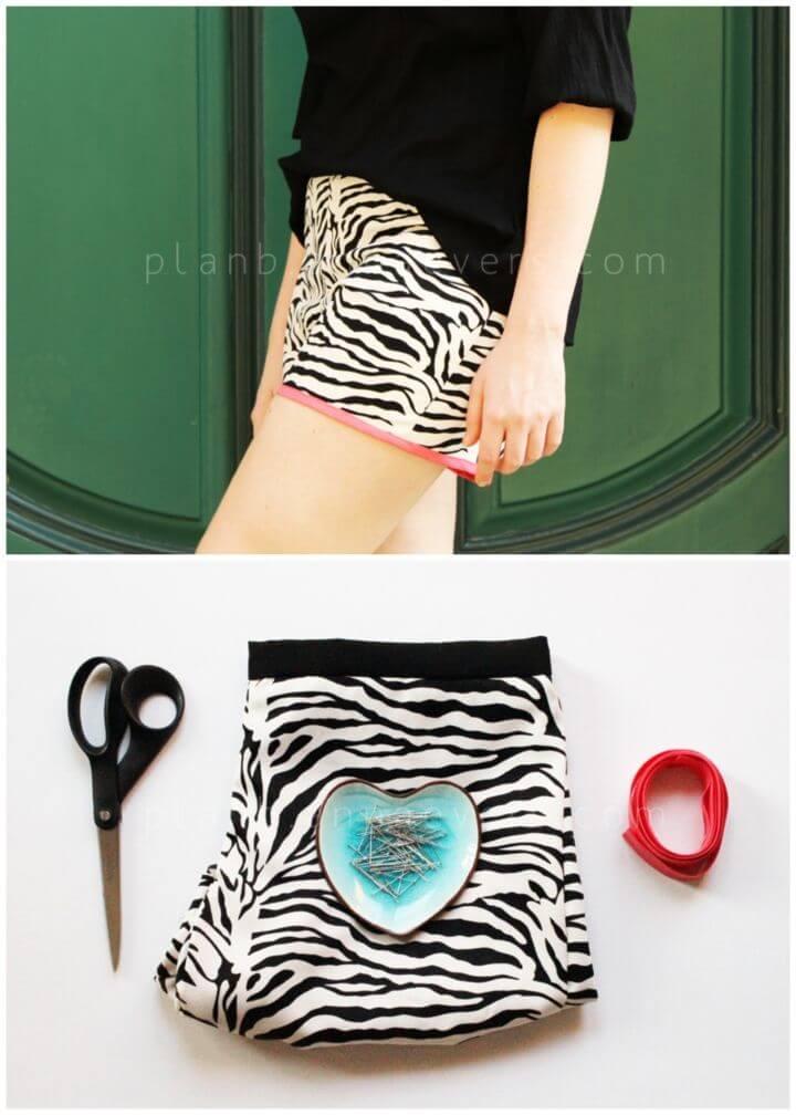 DIY Shorts Hem With Bias Ribbon