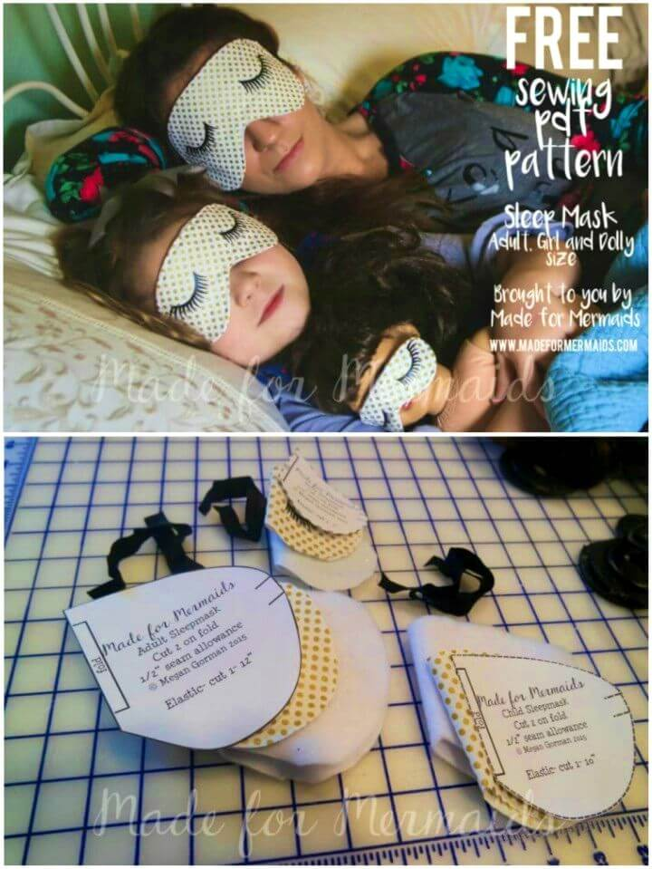 DIY Sleep Masks for Adults Children and Dolly