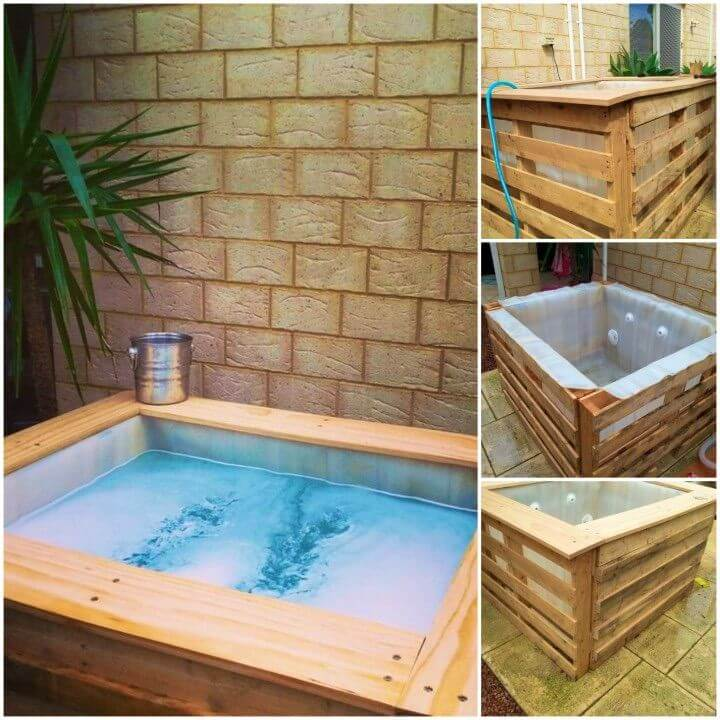 DIY Small Above Ground Pool spa Using A l Ibc Pallets