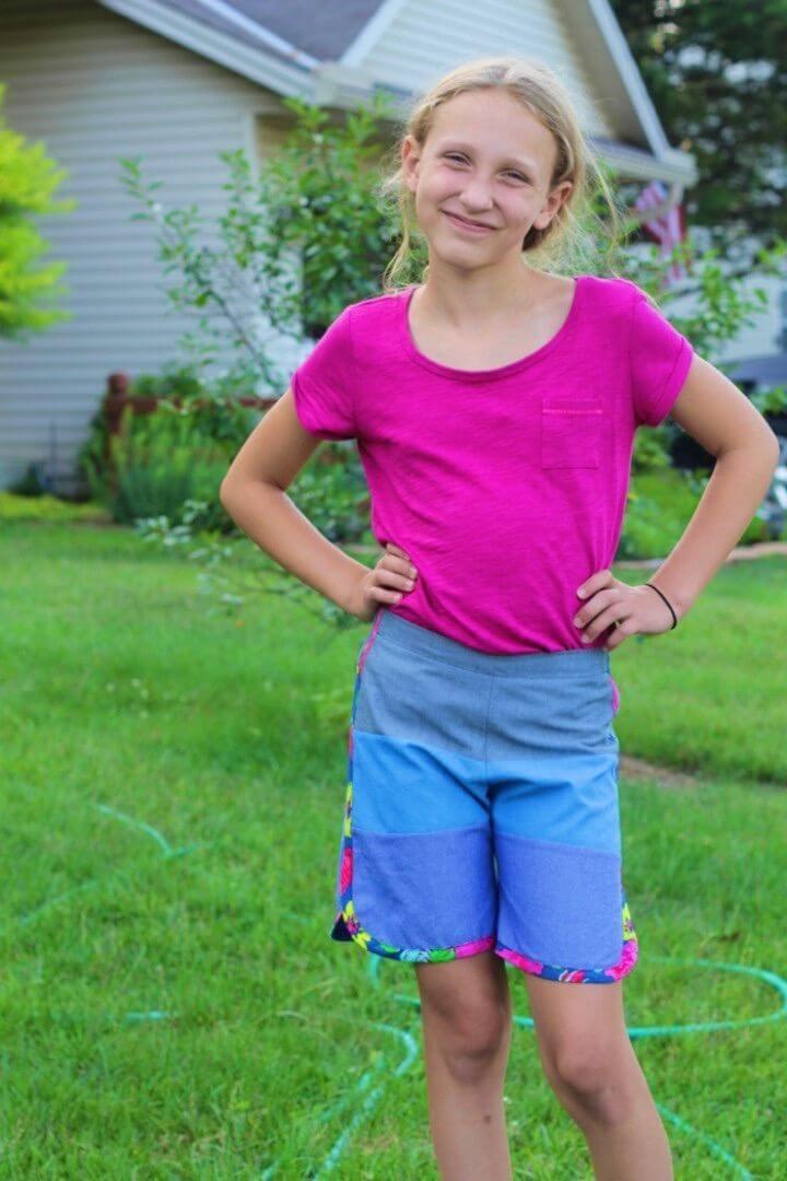 DIY Striped Board Shorts