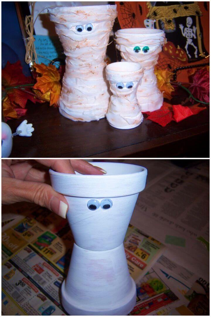 DIY Terra Cotta Mummies Crafts