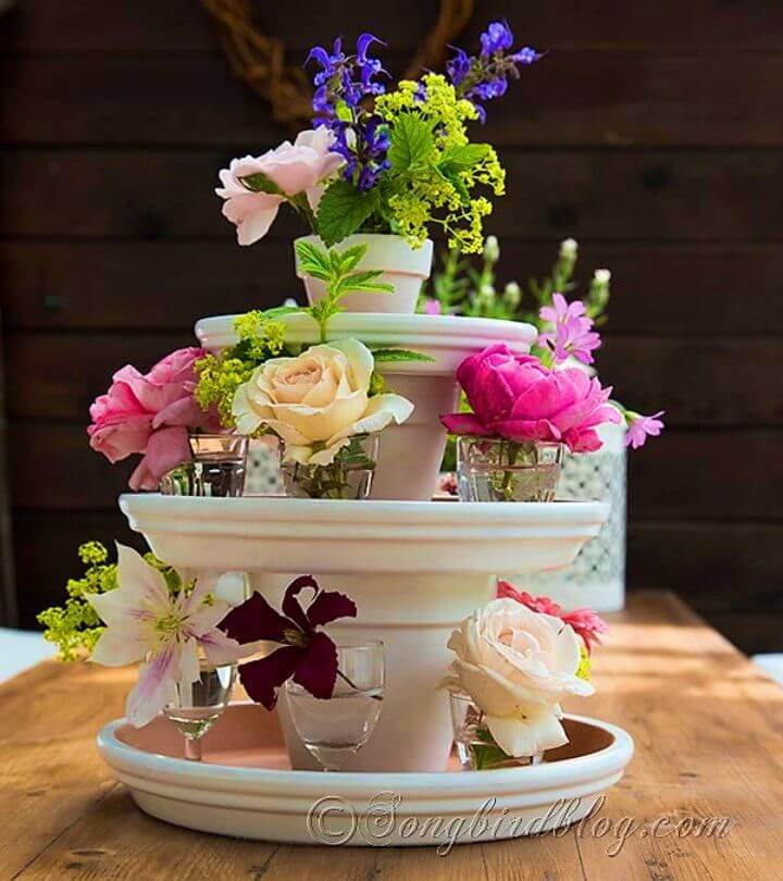 DIY Terracotta Pots Centerpiece for Your Table
