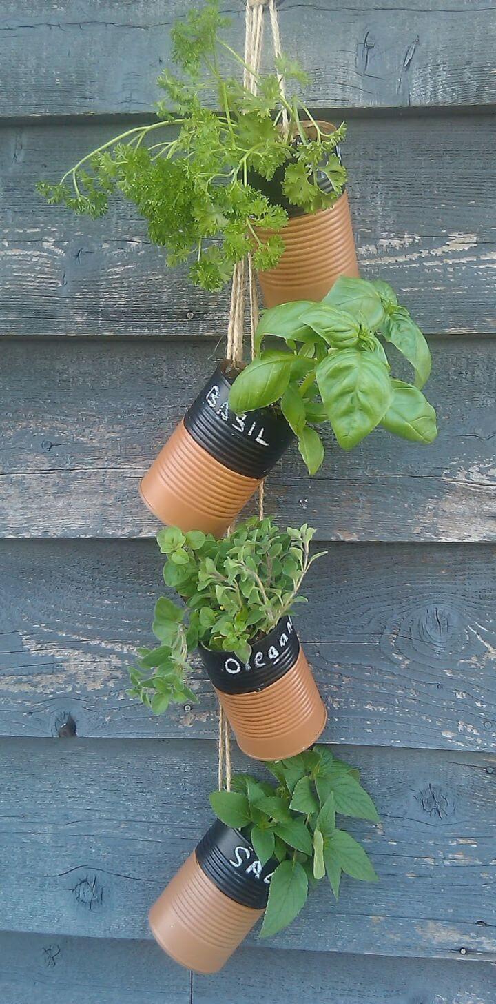 DIY Upcycled Herb Garden