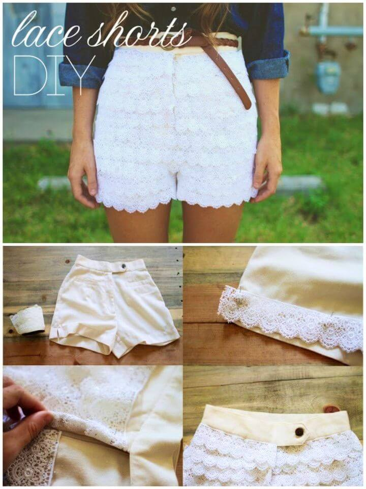 DIY Urban Outfitters Inspired Lace Shorts