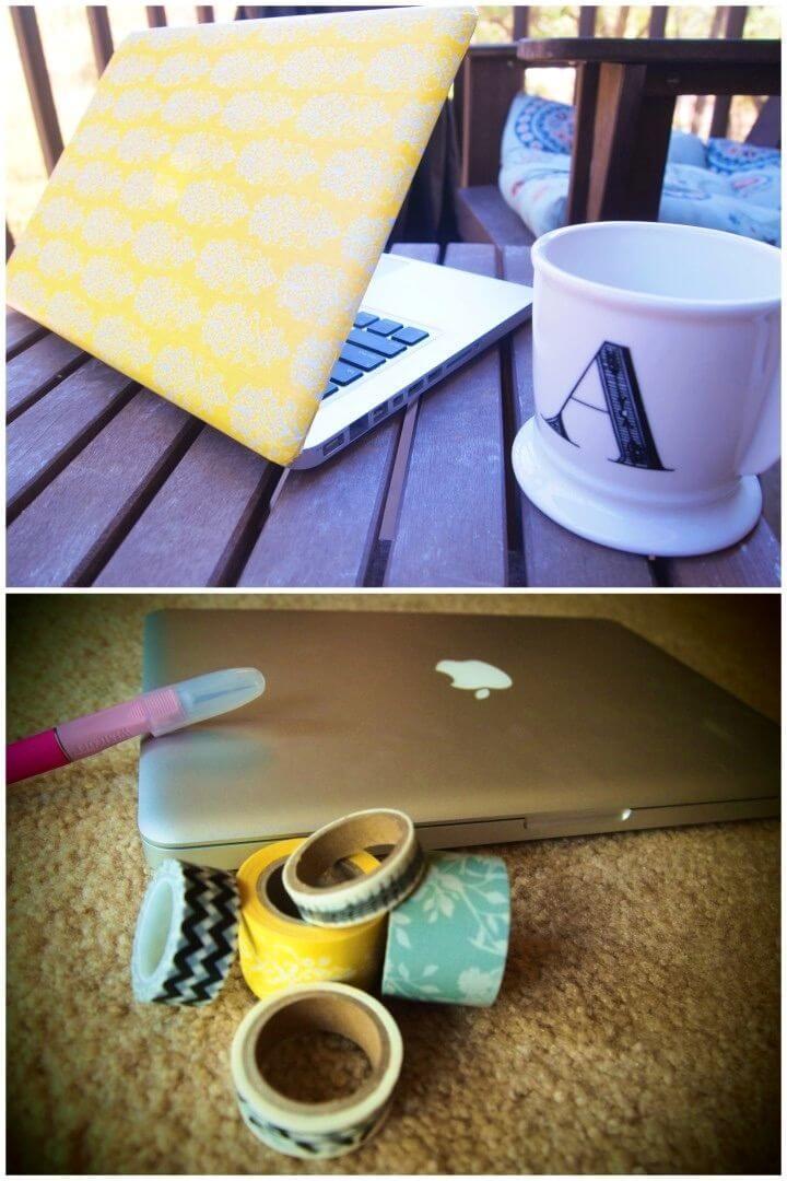 DIY Washi Tape Laptop Cover