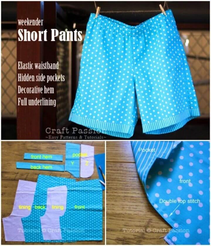 DIY Weekender Short Pants