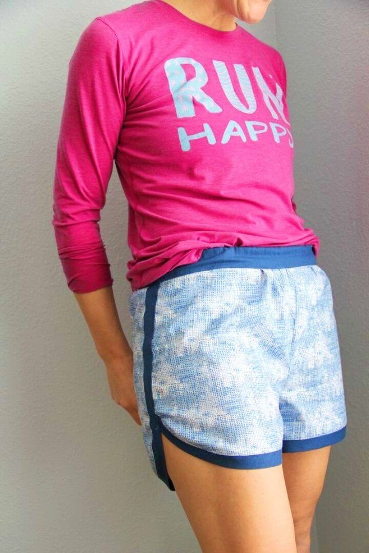 DIY Womens Gym Shorts With Free Pattern