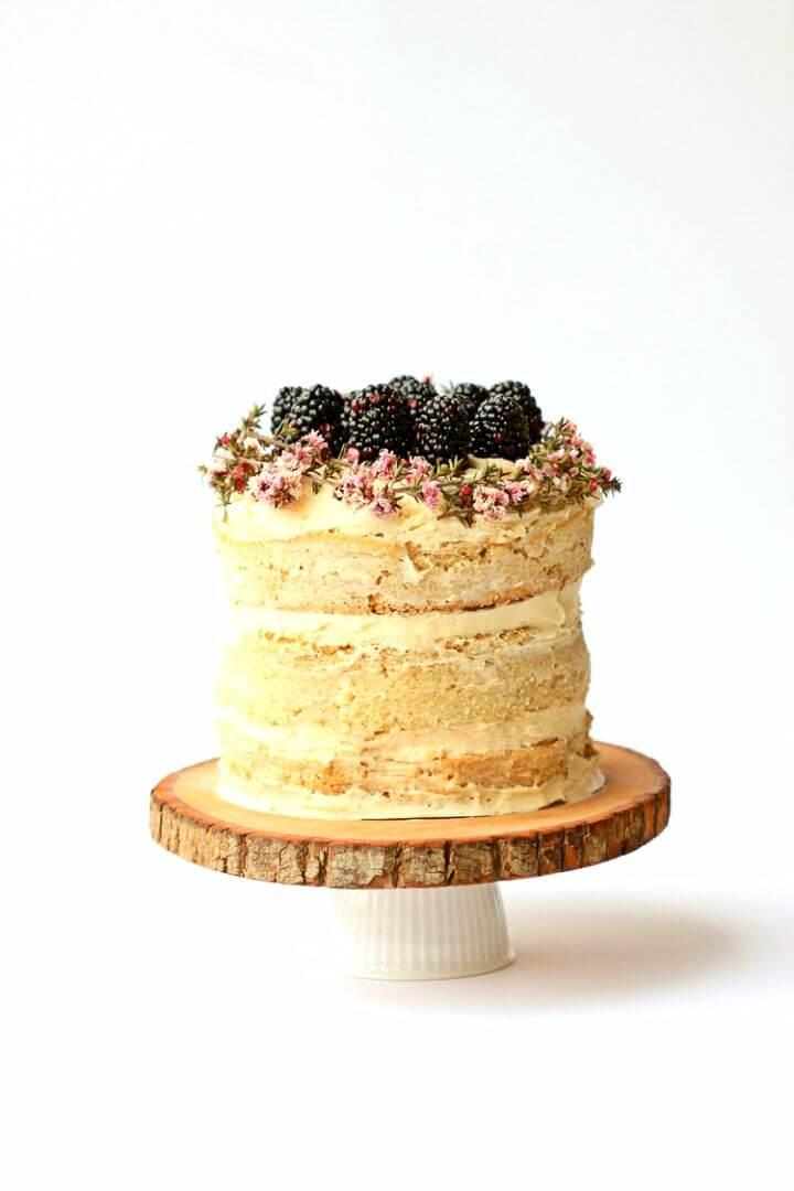 DIY Wood Slice Cake Plate Tutorial