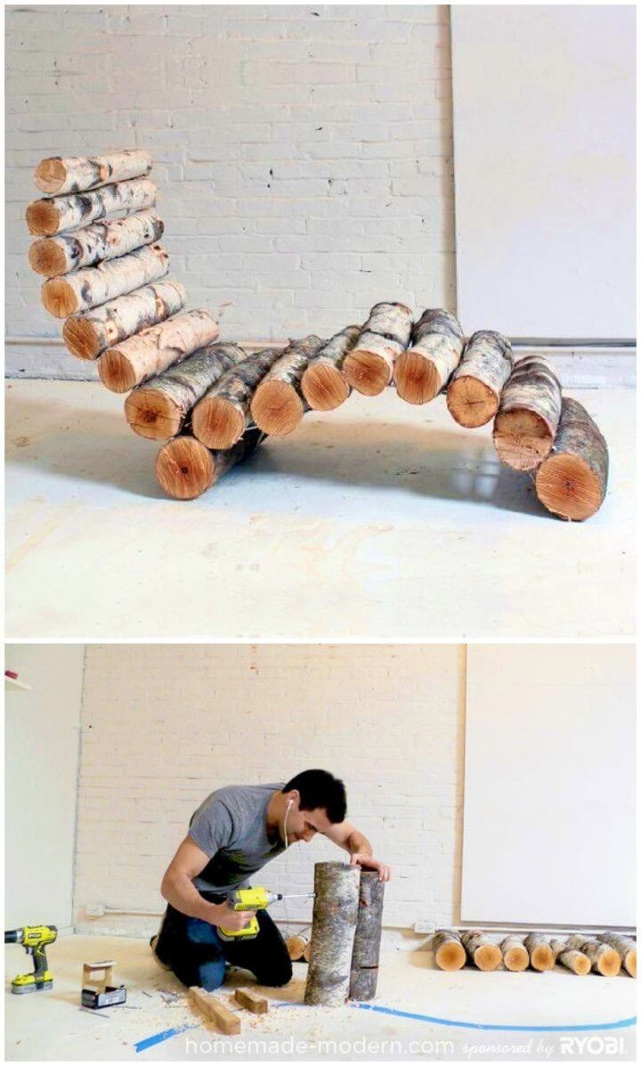 DIY Yard Waste into an Awesome Lounge Chair