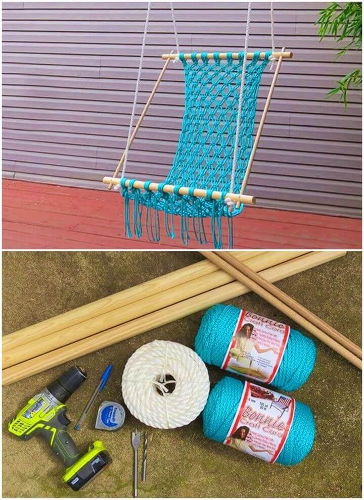 DIY a Macrame Hammock for Your Backyard