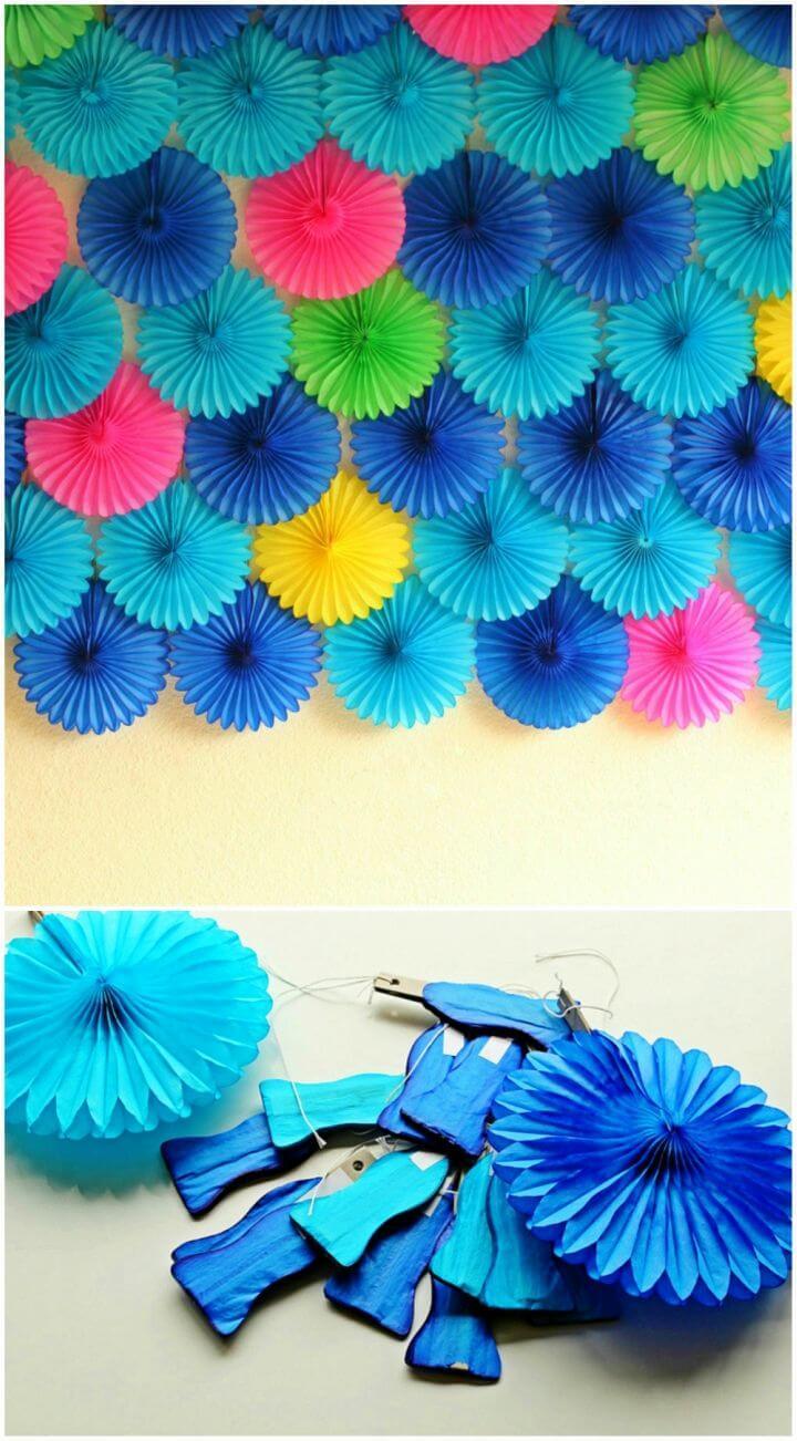 DIY a Paper Fan Party Backdrop