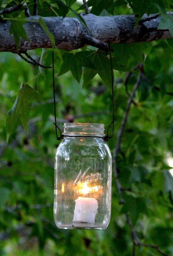 Easiest DIY Magical Hanging Mason Jar Lights