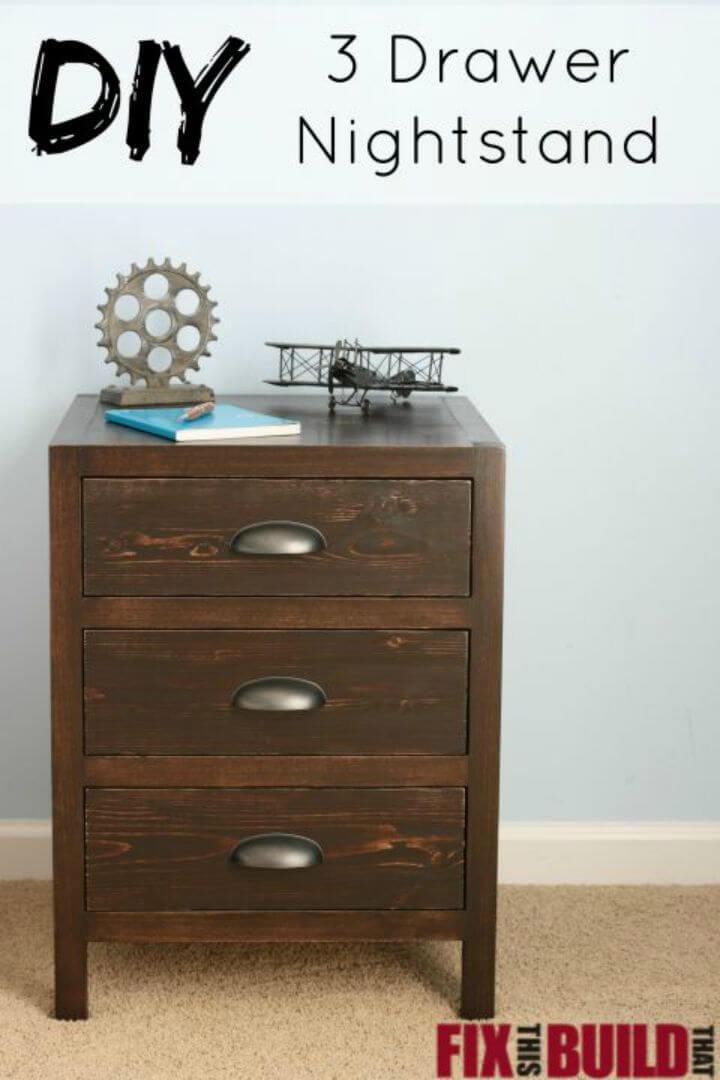 Easy DIY Drawer Nightstand