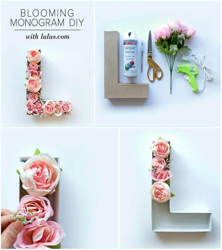 Easy DIY Blooming Monogram