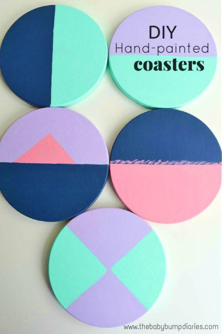 Easy DIY Color Block Coasters, DIY, easy DIY, quick DIY, cheap DIY projects, DIY color blocks, color blocks, DIY color block coasters, DIY coasters, colorful coasters.