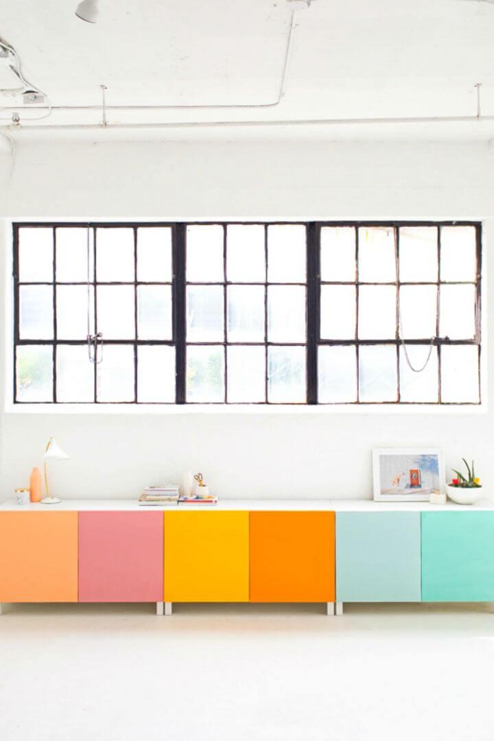 Easy DIY Color Block Storage, DIY, easy DIY, quick DIY, cheap DIY projects, DIY color blocks, color blocks, DIY color block storage, DIY storage, color block technique.