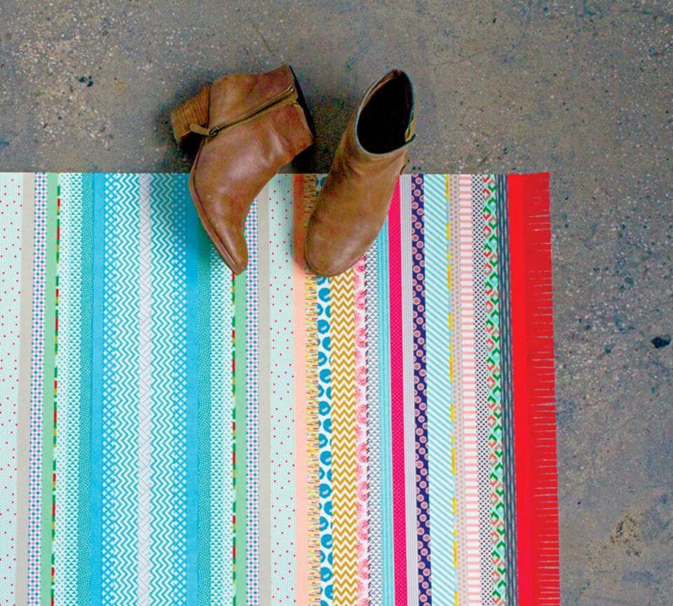 Easy DIY Faux Floor Rug