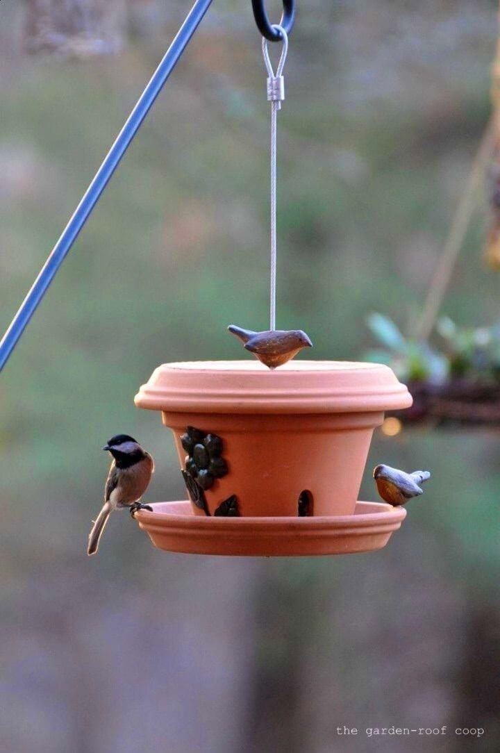 Easy DIY Flowerpot Bird Feeder