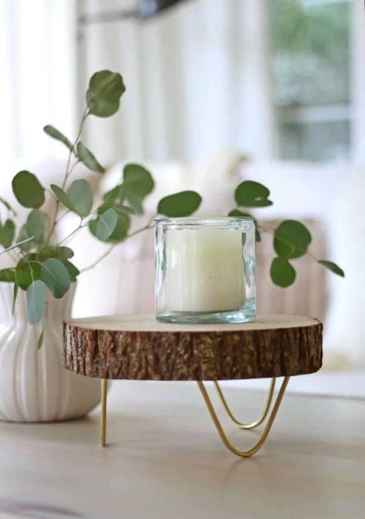 Easy DIY Footed Wood Slice Tray