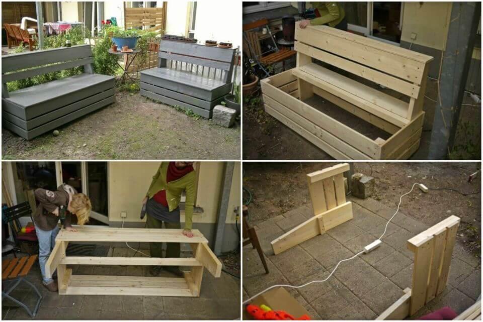 Easy DIY Garden Storage Bench