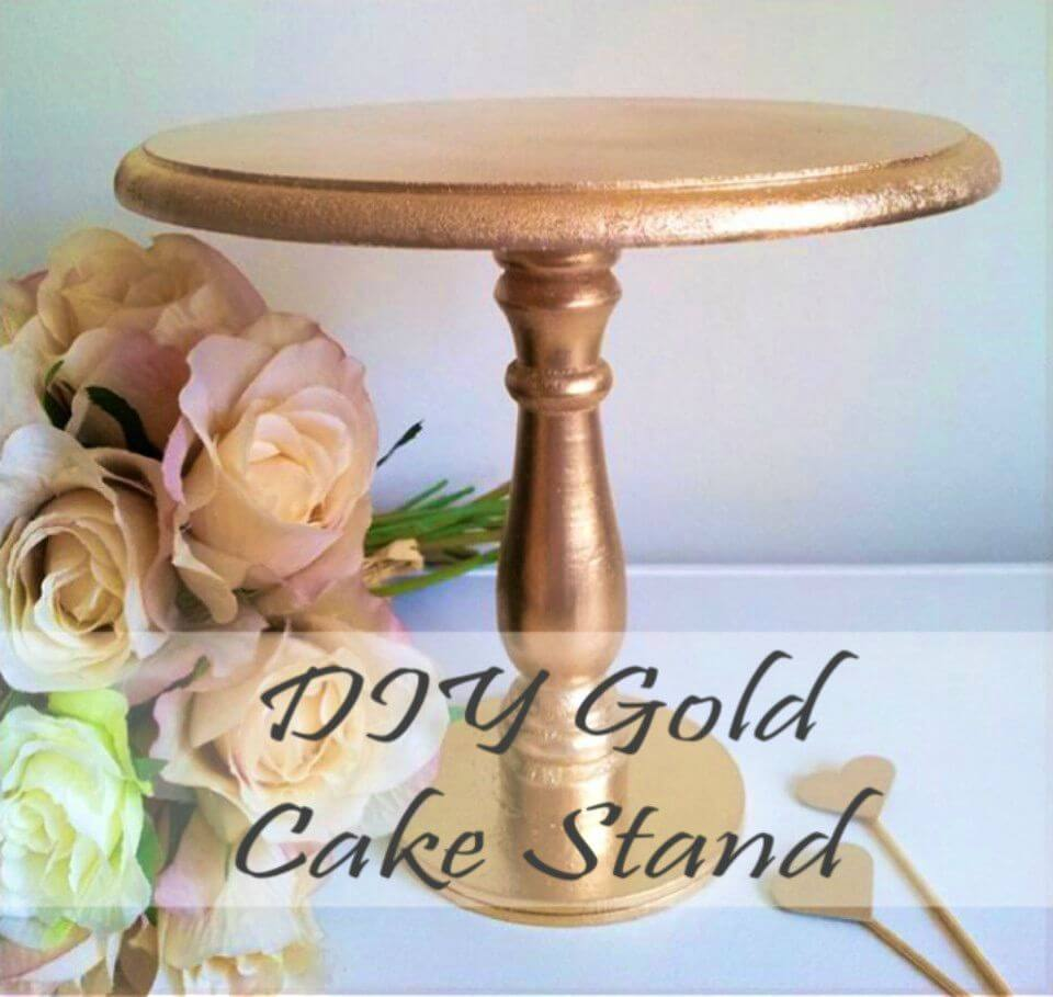 Easy DIY Gold Cake Stand