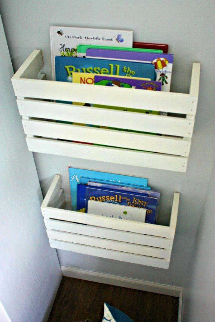Easy DIY Great Crate Book Storage