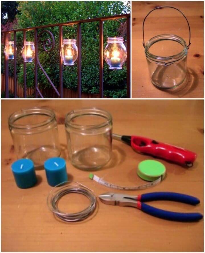 Easy DIY Hanging Jar Lanterns