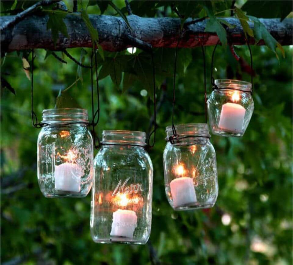 Easy DIY Magical Hanging Mason Jar Lights