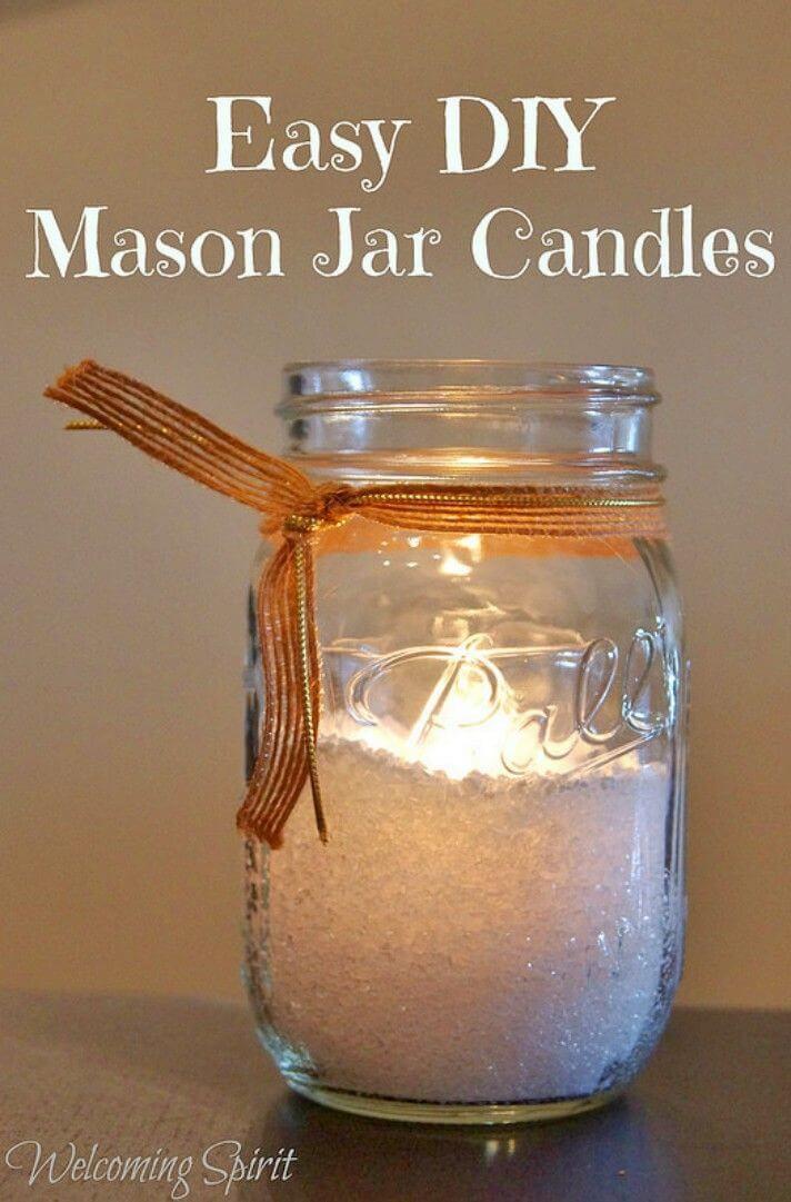 Easy DIY Mason Jar Candle