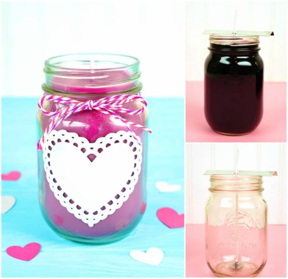 Easy DIY Mason Jar Candles