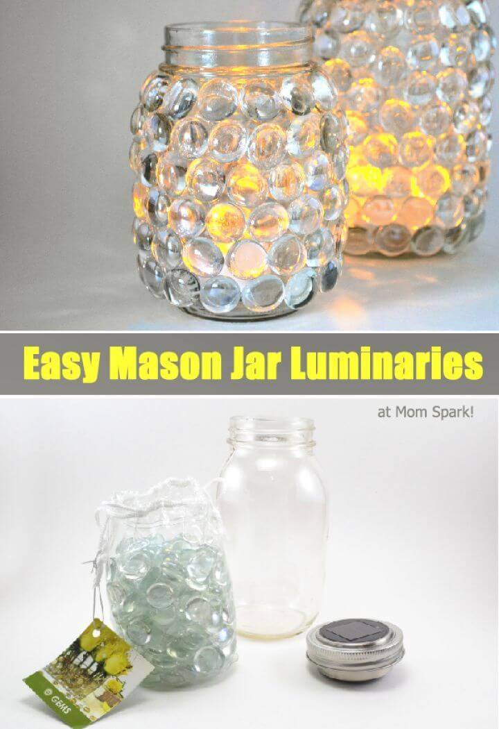 Easy DIY Mason Jar Luminaries