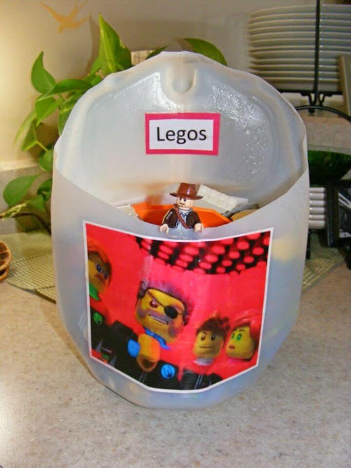 Easy DIY Milk Jug Lego Caddy