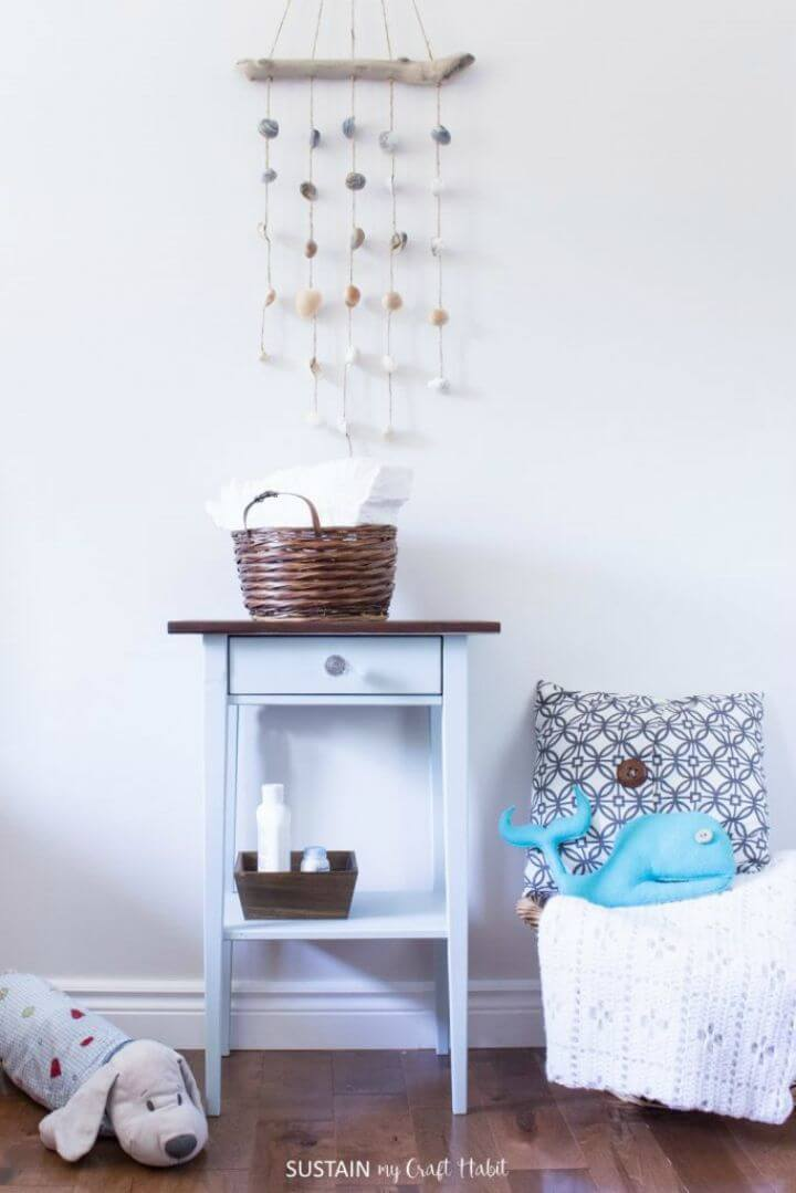 Easy DIY Nightstand Makeover for a Natural Baby Nursery