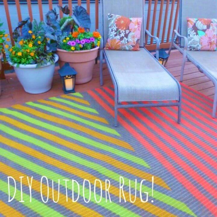 Easy DIY Outdoor Rug