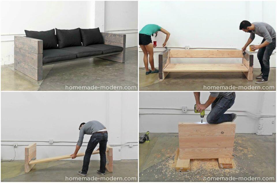 Easy DIY Outdoor Sofa