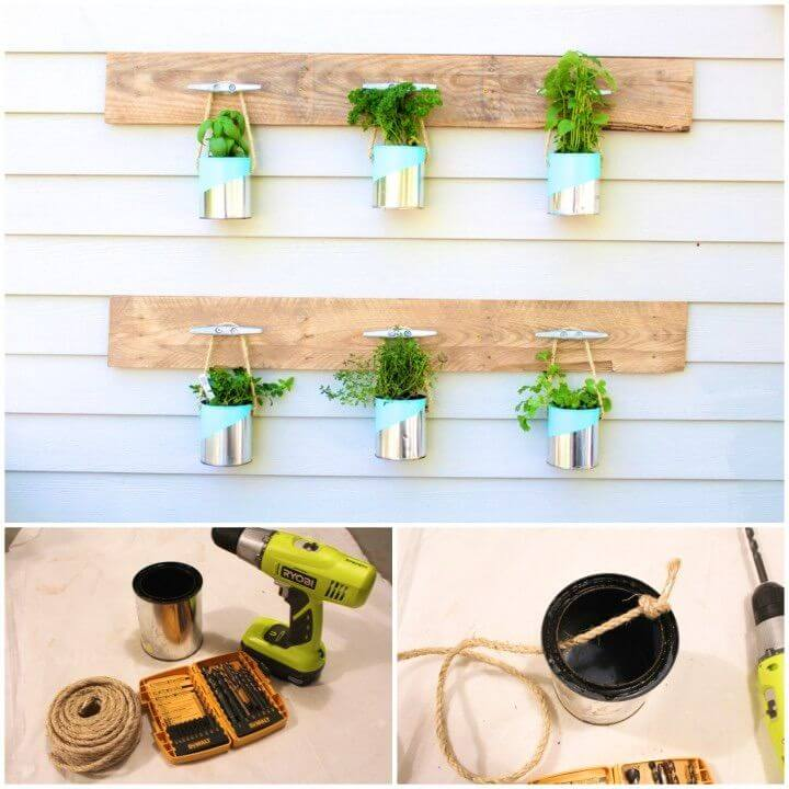 Easy DIY Paint Can Herb Garden