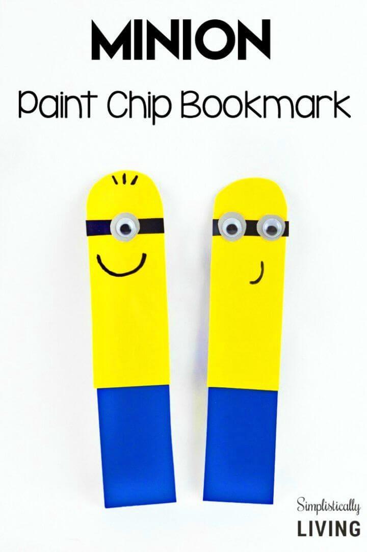 Easy DIY Paint Chip Minion Bookmark