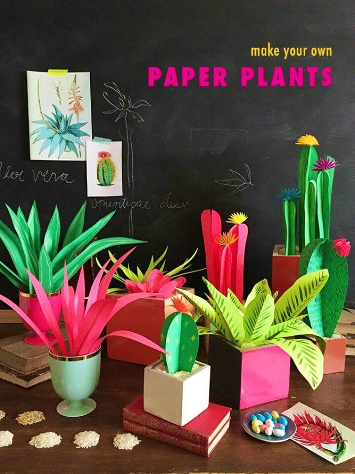 Easy DIY Paper Plants for Adults